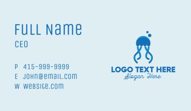 Ocean Blue Jellyfish Business Card
