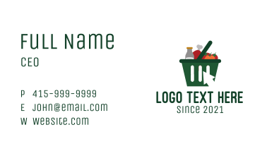 Grocery Online Shopping Business Card