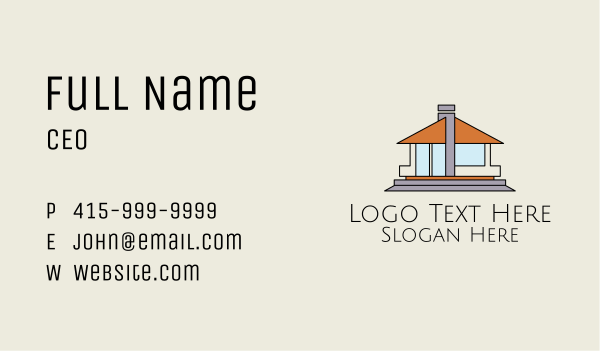 bungalow - Bungalow House Property  Business card horizontal design