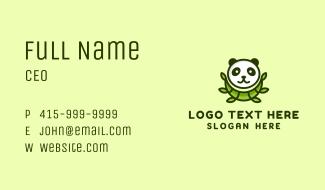 Panda Bamboo Business Card