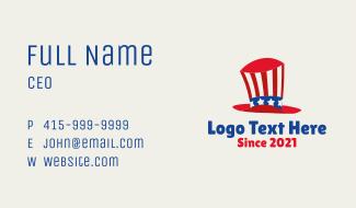 American Kiddie Top Hat Business Card