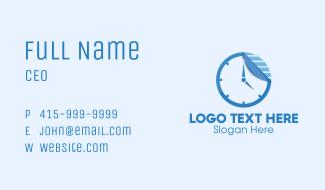 Sticker Paper Clock Business Card