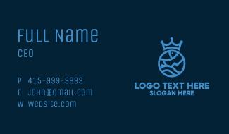 Blue Royal Fish Business Card