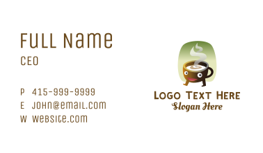 Happy Hot Coffee  Business Card