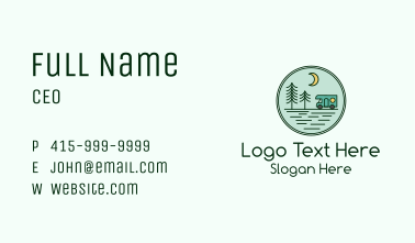 Trailer Camping Emblem  Business Card