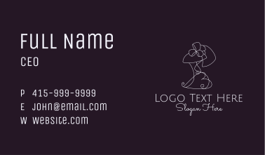 Minimalist Fashion Tailor  Business Card