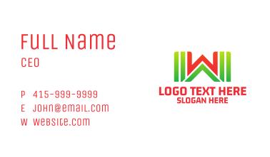 Supermarket Letter W Business Card
