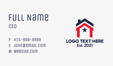 American House  Business Card