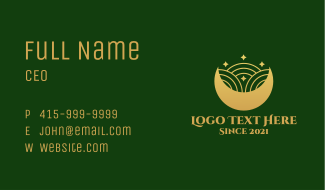 Islamic Moon Ornament  Business Card