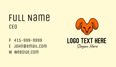 Rabbit Head Mascot Business Card