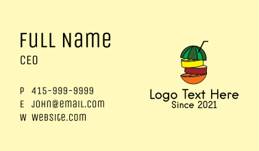 Tropical Fruit Juice  Business Card