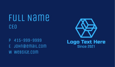 Blue Digital  Box Business Card