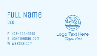 Blue Minimalist Sneakers Business Card
