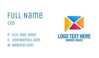 Mail Messaging App Business Card