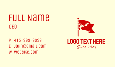 Red Dragon Flag  Business Card