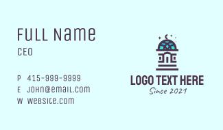 Minimalist Majestic Dome Business Card
