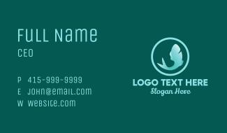 Gradient Fish Badge Business Card