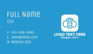 Cloud Lock Application Business Card