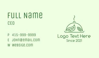 Green Vegan Cuisine Business Card