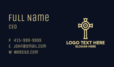 Target Cross Crucifix Business Card