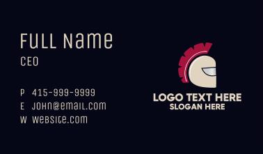 Brown Spartan Helmet Business Card