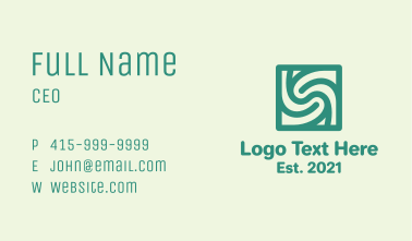 Spiral Letter S Pattern Business Card