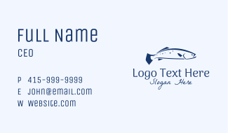 Blue Seabass Fish  Business Card