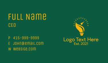 Bulb Energy Gauge  Business Card