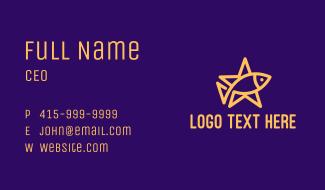Yellow Fish Star Business Card