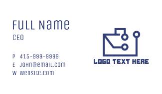 Tech Briefcase Business Card