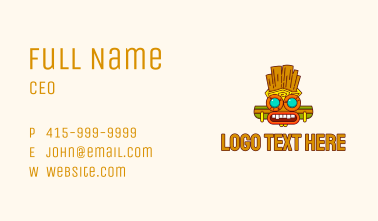 Ancient Mayan Mask Business Card