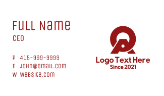 Red Letter O & A Company  Business Card