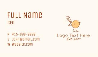 Sparrow Line Art  Business Card