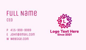 Flower Star Letter Business Card