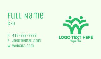 Green Environmentalist Community Business Card