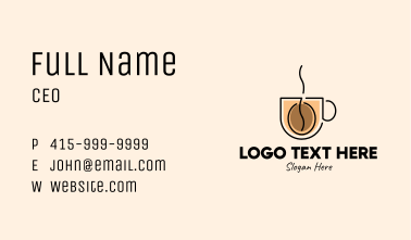 Robusta Coffee Cup Business Card