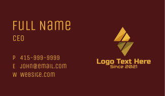 Geometric Diamond Construction Business Card