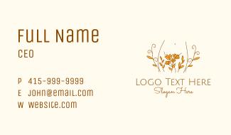 Floral Feminine Body Business Card