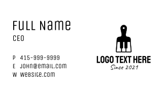 Black Piano Paintbrush Business Card