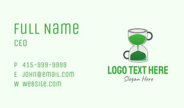 Tea Hour Glass Business Card