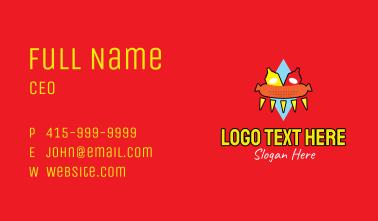 Retro Hot Dog Stand Business Card