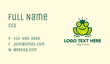 Stoned King Frog Business Card