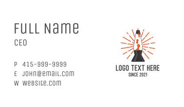 Lava Lamp Night Light Business Card