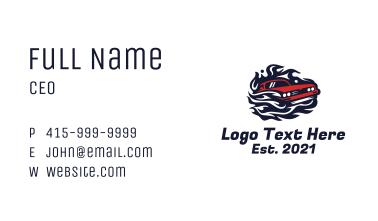 Blazing Sports Car Business Card