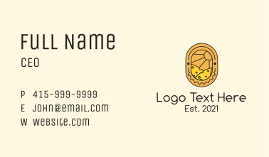 Cheese Land Badge Business Card