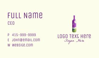 Wine Liquor Travel Business Card