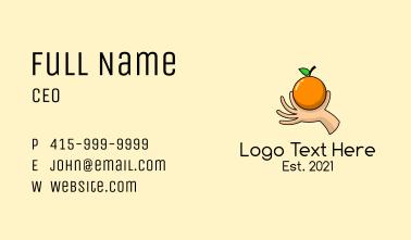 Handpicked Orange Fruit  Business Card
