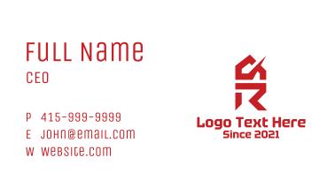 Construction Housing Letter Business Card