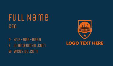 Orange Basketball Emblem  Business Card