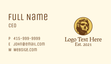 Roman Emperor Badge  Business Card